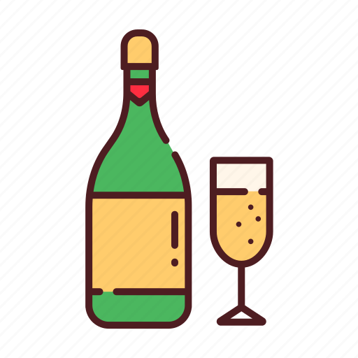 celebration, champagne, cheers, christmas, party, wine, xmas icon