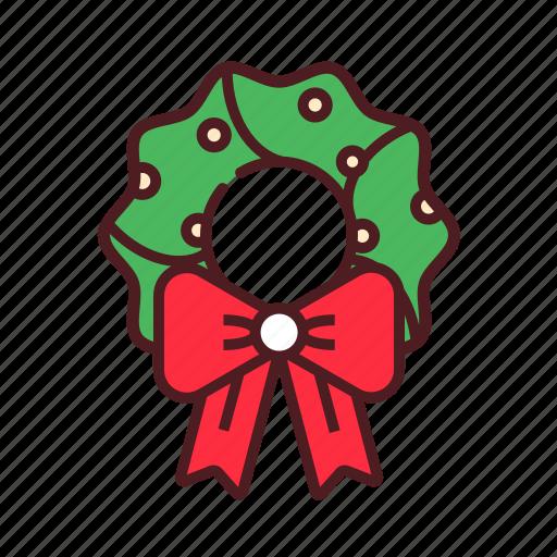 christmas, christmas wreath, decoration, winter, wreath, xmas icon