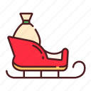 christmas, scooter, sleigh, snow sled, winter, xmas icon