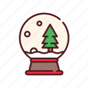 ball, christmas, collection, decoration, snow, snow ball, snow globe, xmas icon