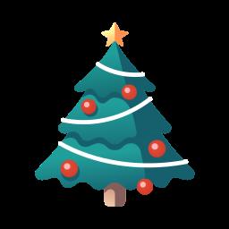 christmas, christmas tree, decoration, pine, tree, xmas icon