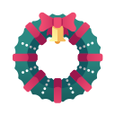 christmas, christmas wreath, decoration, winter, wreath, xmas icon