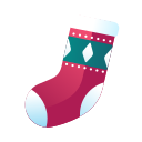 christmas, christmas sock, decoration, red socks, sock, socks, stocking, xmas icon