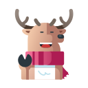 animal, christmas, deer, reindeer, winter, xmas icon