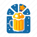 beer, beverage, christmas, liquor, xmas icon