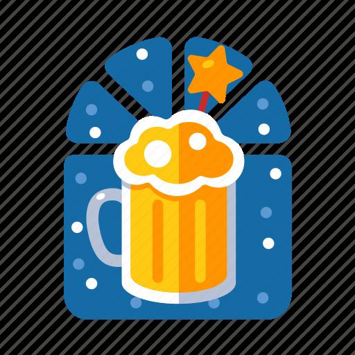 beer, beverage, christmas, liquor, xmas icon