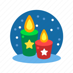 candles, christmas, light, party, xmas icon