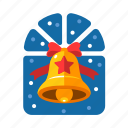 bell, christmas, christmas bell, decoration, handbell, xmas icon