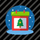 box, calendar, calender, christmas, christmas calendar, xmas icon