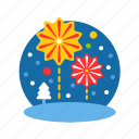 celebrate, christmas, fireworks, party, xmas icon