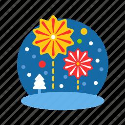 celebrate, christmas, fireworks, party, xmas icon