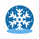 christmas, flakes, ice, ice flakes, snow flakes, snow globe, winter, xmas icon
