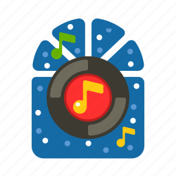 cd, christmas, music, party, record, xmas icon