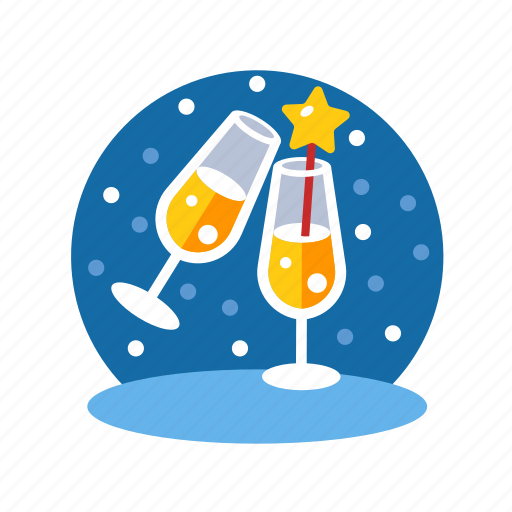 beverage, champagne, cheers, christmas, cocktails, party, party time, time, xmas icon