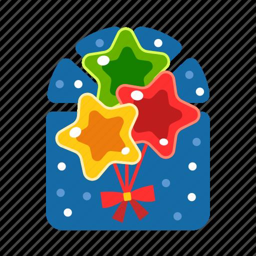 balloon, christmas, party, party balloon, star, xmas icon