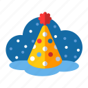 christmas, dunce cap, hat, party, party hat, point hat, xmas icon