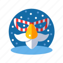 christmas, clothing, mask, masquerade, party, party mask, xmas icon