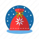 bag, christmas, gifts, pouch, santa, santa bag, xmas icon