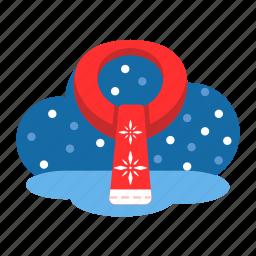 christmas, clothing, garment, scarf, warm, winter, xmas icon