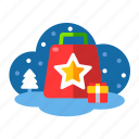 bag, christmas, gifts, rewards, shopping, shopping bag, xmas icon