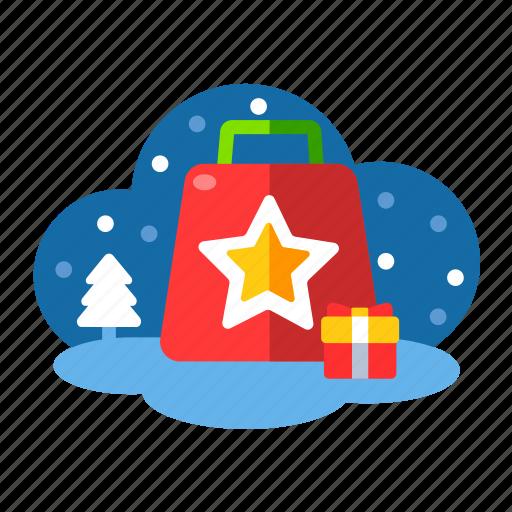 bag, christmas, gifts, rewards, shopping, shopping bag, xmas icon