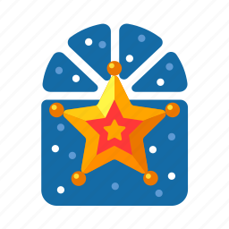 christmas, decoration, golden star, star, xmas icon