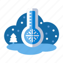 christmas, fahrenheit, freeze, scale, temperature, tempreature, thermometer, xmas icon