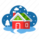 christmas, house, winter, winter house, xmas icon
