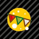 christmas, christmas pendant, festival, flag, pendant, xmas icon