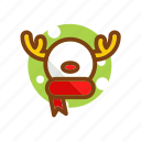 animal, christmas, deer, reindeer, snowman, winter, xmas icon