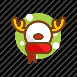 animal, christmas, deer, reindeer, snowman, winter, xmas icon