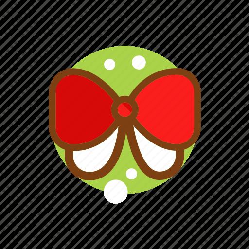 bow tie, christmas, clothing, decoration, ribbon, xmas icon