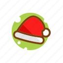 christmas, clothing, hat, headgear, santa, santa hat, winter, xmas icon