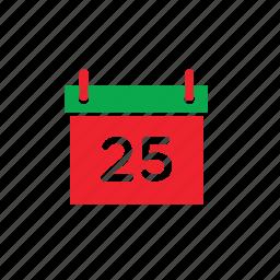 calendar, xmas icon
