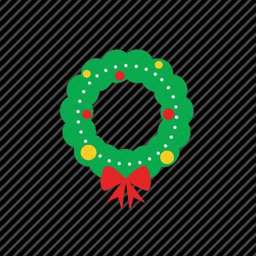 bow, christ, garant wheel, ornament, xmas icon