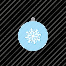 ball, snow flake, xmas icon
