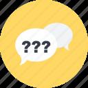 conversation, communication, multimedia, question, speech bubble, chat