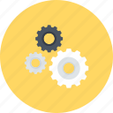 cogwheel, configuration, gear, play, seo, settings icon