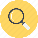 detective, glass, loupe, magnifying glass, search, see, zoom icon