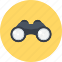 binoculars, detective, googles, search, see, spy icon