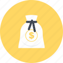 bag, bank, banking, business, currency, money, money bag icon