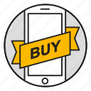 buy, commerce, mobile, online store, phone, shopping icon