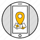 google maps, location, map, marker, navigation icon