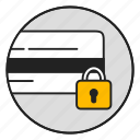 credit card, lock, password, payment, protection, safely, security icon