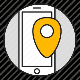 location, map, marker, navigation, navigator icon