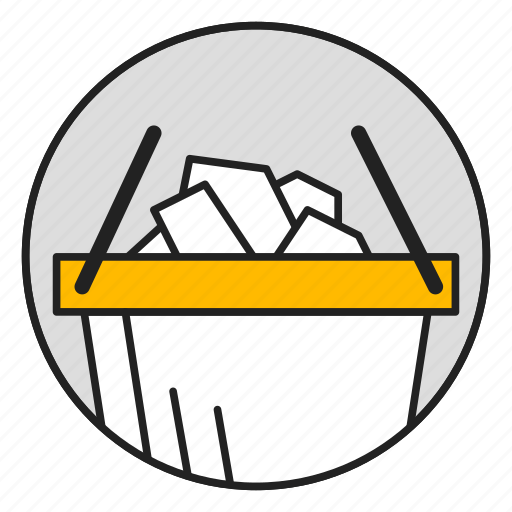 bucket, buy, commerce, ecommerce, shopping, shopping cart icon