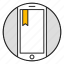 bookmark, favorites, mobile, phone icon