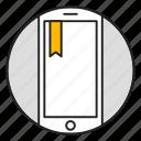 bookmark, mobile, favorites, phone