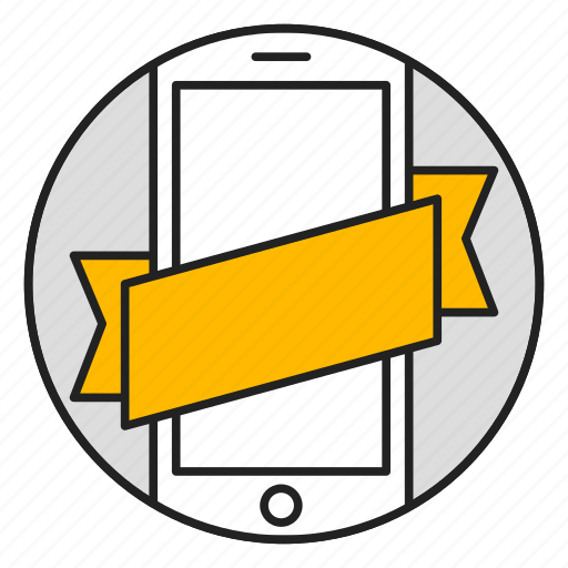 mobile, online store, phone, tape icon