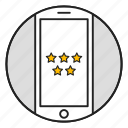 appstore, phone, positively, rating, review, star